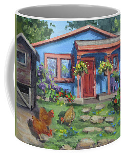 The Blue House Coffee Mug