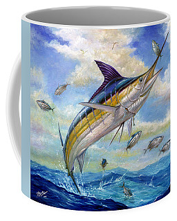 The Blue Marlin Leaping To Eat Coffee Mug