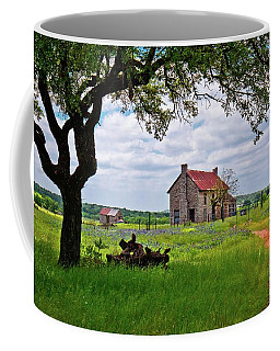 Coffee Mug featuring the photograph The Bluebonnet House by Linda Unger