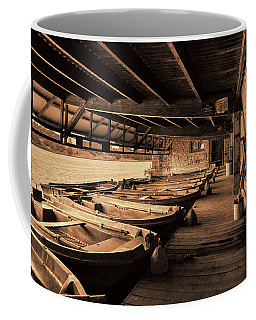 Coffee Mug featuring the photograph The Boat House  by Scott Carruthers