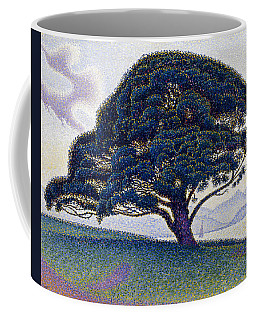 Coffee Mug featuring the painting The Bonaventure Pine  by Paul Signac