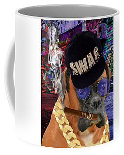 Coffee Mug featuring the mixed media The Boss Boxer by Marvin Blaine