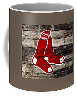 Coffee Mug featuring the mixed media The Boston Red Sox W9   by Brian Reaves