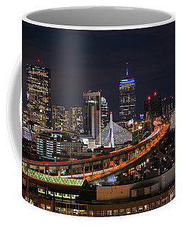 The Boston Skyline Boston Ma Full Zakim Coffee Mug