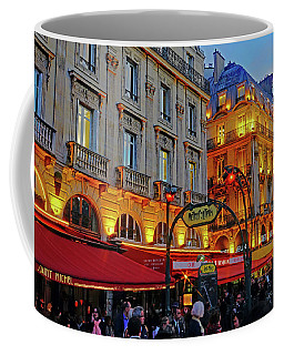The Boulevard Saint Michel At Dusk In Paris, France Coffee Mug by Richard Rosenshein