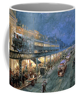 The Bowery At Night Coffee Mug