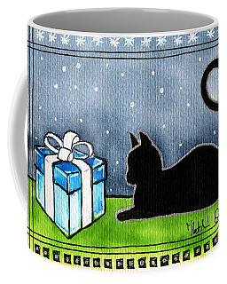 The Box Is Mine - Christmas Cat Coffee Mug