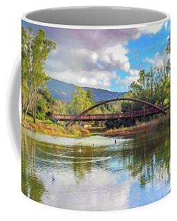 The Bridge At Vasona Lake Digital Art Coffee Mug