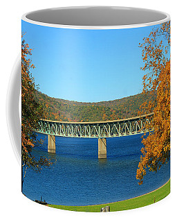 Coffee Mug featuring the photograph The Bridge by Rick Morgan