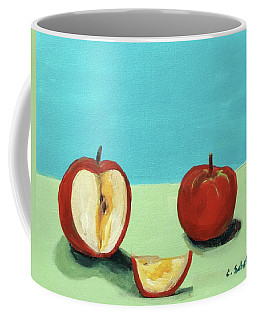 The Brilliant Red Apples With Wedge Coffee Mug
