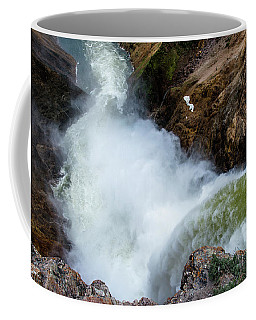 The Brink Of The Lower Falls Of The Yellowstone River Coffee Mug