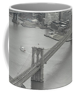 The Brooklyn Bridge From Above Coffee Mug by Dyle Warren