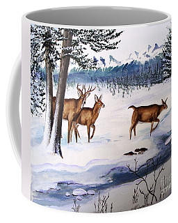 Coffee Mug featuring the painting The Buck Stops Here by Patricia L Davidson