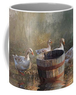 Coffee Mug featuring the photograph The Bucket Brigade by Robin-Lee Vieira