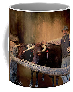 Coffee Mug featuring the photograph The Bullock Driver by Wallaroo Images