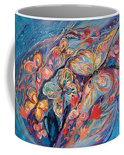 The Butterflies On Blue Coffee Mug