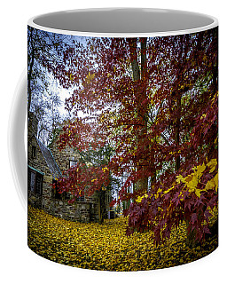 The Cabin In Autumn Coffee Mug