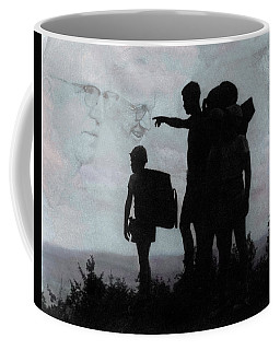 Coffee Mug featuring the photograph The Call Centennial Cover Image by Wayne King