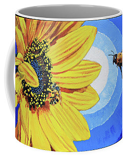 The Call Of The Sunflower Coffee Mug by John Lautermilch