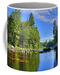 Coffee Mug featuring the photograph The Calm Below Buttermilk Falls by David Patterson