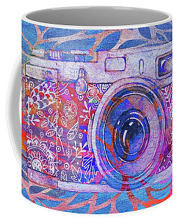 Coffee Mug featuring the digital art The Camera - 02c3t by Variance Collections