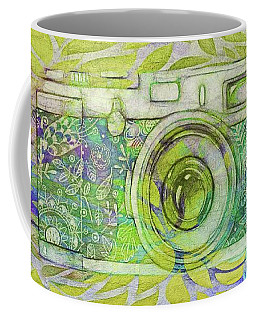 Coffee Mug featuring the digital art The Camera - 02c5bt by Variance Collections