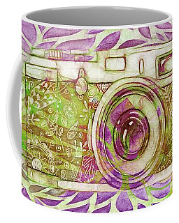 Coffee Mug featuring the digital art The Camera - 02c6t by Variance Collections