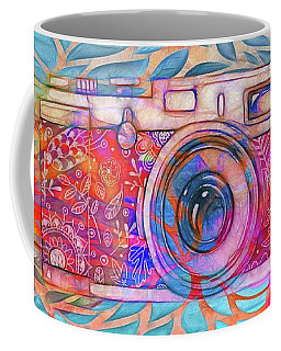 Coffee Mug featuring the digital art The Camera - 02v2 by Variance Collections