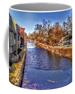 The Canal At New Hope In Winter Coffee Mug
