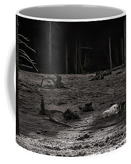 The Canyon Alphas B/w Coffee Mug