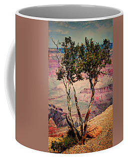 Coffee Mug featuring the photograph The Canyon Tree by Tom Prendergast