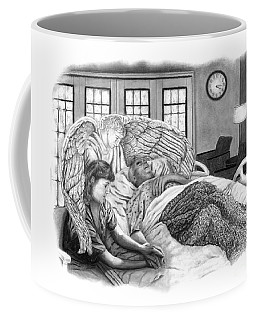 Coffee Mug featuring the drawing The Caregiver by Peter Piatt