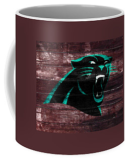 Coffee Mug featuring the mixed media The Carolina Panthers W7 by Brian Reaves