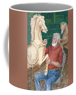 The Carver And His Horse Coffee Mug