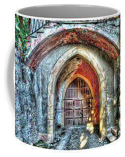 Coffee Mug featuring the photograph The Castle Door - La Porta Del Castello by Enrico Pelos