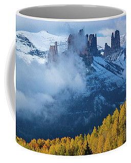 Coffee Mug featuring the photograph The Castles In Fog by John De Bord