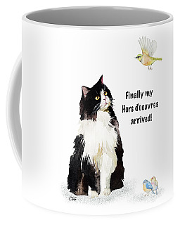 Coffee Mug featuring the painting The Cat's Hors D'oeuvres by Colleen Taylor