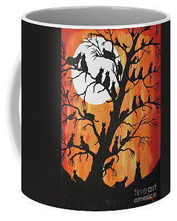 The Cats On Night Watch Coffee Mug
