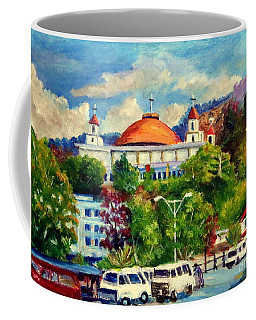 The Central Taxi Terminal In Jayapura Coffee Mug