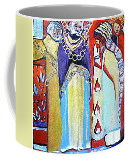 Coffee Mug featuring the painting The Chains That Bind Us To Christ by Mindy Newman