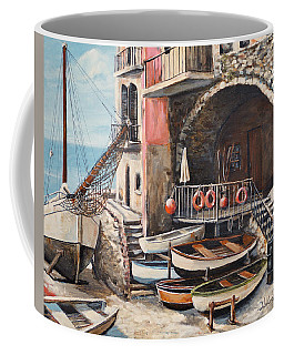 Coffee Mug featuring the painting The Chandler by Alan Lakin