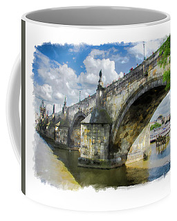 The Charles Bridge - Prague Coffee Mug by Tom Cameron