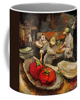 The Chefs Table At Hot And Hot Coffee Mug by Carole Foret