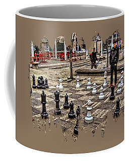 The Chess Match In Portland Coffee Mug