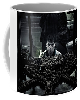 Coffee Mug featuring the photograph The Chestnutman by Michel Verhoef
