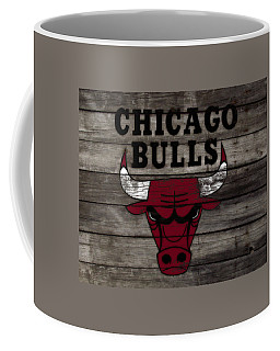 Coffee Mug featuring the mixed media The Chicago Bulls W10 by Brian Reaves