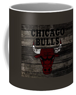 Coffee Mug featuring the mixed media The Chicago Bulls W11 by Brian Reaves
