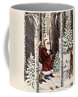 The Christmas Forest Visitor 2 Coffee Mug
