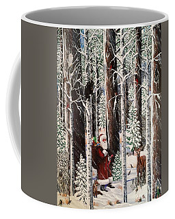 The Christmas Forest Visitor Coffee Mug