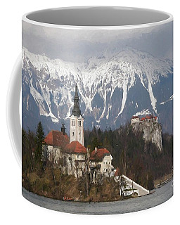 The Church And The Castle, Lake Bled Coffee Mug